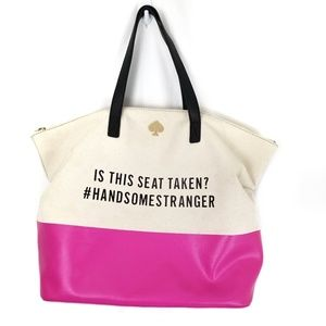 Kate Spade Call to Action handsome stranger tote